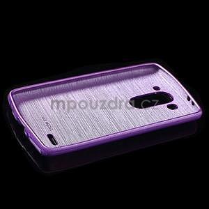 Broušený gelový obal na LG G3 s - fialový - 5