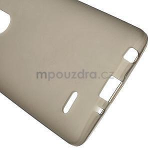 Šedý matný gelový kryt LG G3 s - 5