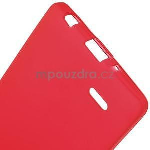 Červený matný gelový kryt LG G3 s - 5