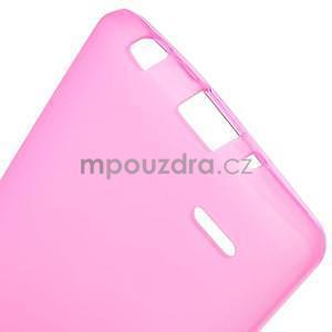 Rose matný gelový kryt LG G3 s - 5