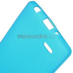 Světle modrý matný gelový kryt LG G3 s - 5