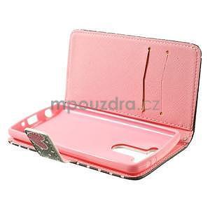 Zapínací peněženkové pouzdro pro LG G3 s - soví rodinka - 5