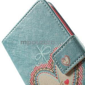 Zapínací peněženkové pouzdro pro LG G3 s - srdce - 5