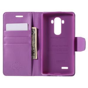 Sonata peněženkové pouzdro na LG G4 - fialové - 5