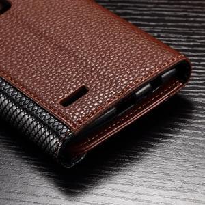 Enlop peněženkové pouzdro na LG G4 - hnědé/černé - 5
