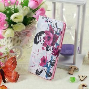 Call peněženkové pouzdro na LG G4 - fialový květ - 5
