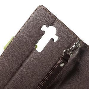 Leaf peněženkové pouzdro na mobil LG G4 - hnědé - 5