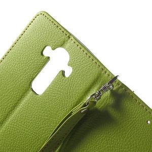 Leaf peněženkové pouzdro na mobil LG G4 - zelené - 5