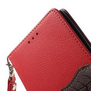 Leaf peněženkové pouzdro na mobil LG G4 - červené - 5