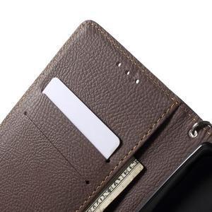 Leaf peněženkové pouzdro na mobil LG G4 - černé - 5