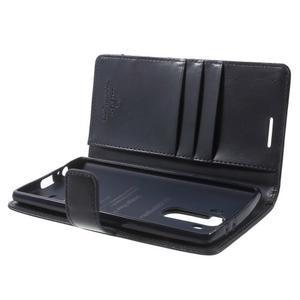Luxury PU kožené pouzdro na mobil LG G4 - tmavěmodré - 5