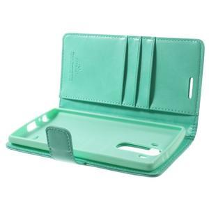 Luxury PU kožené pouzdro na mobil LG G4 - cyan - 5