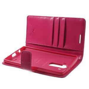 Luxury PU kožené pouzdro na mobil LG G4 - rose - 5