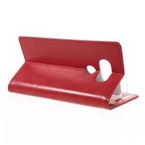 Luxury PU kožené pouzdro na mobil LG G5 - červené - 5