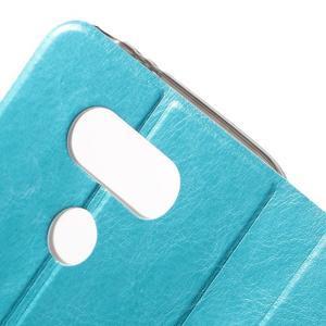 Horse PU kožené peněženkové pouzdro na LG G5 - modré - 5