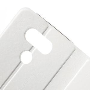 Horse PU kožené peněženkové pouzdro na LG G5 - bílé - 5