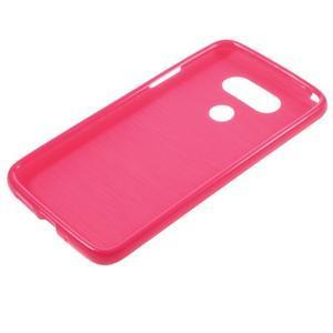 Lesklý gelový obal na mobil LG G5 - rose - 5