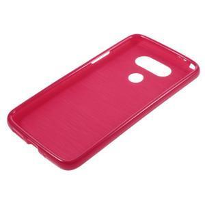 Lesklý gelový obal na mobil LG G5 - červený - 5