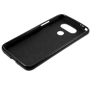 Lesklý gelový obal na mobil LG G5 - černý - 5