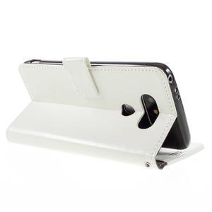 Wax peněženkové pouzdro na LG G5 - bílé - 5