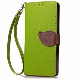 Leaf PU kožené pouzdro na LG G5 - zelené - 5