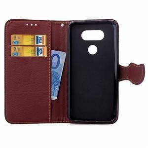 Leaf PU kožené pouzdro na LG G5 - černé - 5
