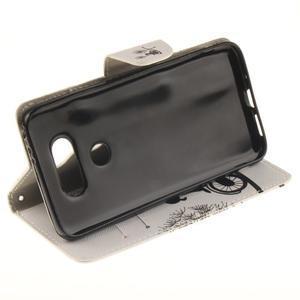 Obrázkové koženkové pouzdro na LG G5 - láska na kole - 5