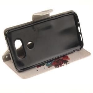 Obrázkové koženkové pouzdro na LG G5 - barevný strom - 5