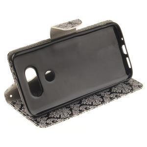 Obrázkové koženkové pouzdro na LG G5 - retro tapeta - 5