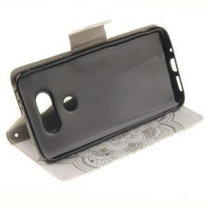 Obrázkové koženkové pouzdro na LG G5 - mandala - 5