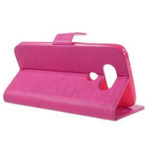 Cloth koženkové peněženkové pouzdro na LG G5 - rose - 5