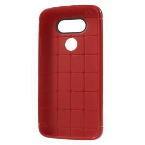 Rubby gelový kryt na LG G5 - červený - 5