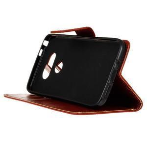 Lees peněženkové pouzdro na LG G5 - hnědé - 5