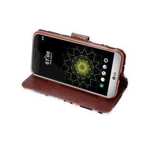 Květinové pouzdro na mobil LG G5 - černý vzor - 5