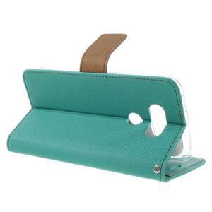 Diary PU kožené pouzdro na mobil LG G5 - zelené - 5
