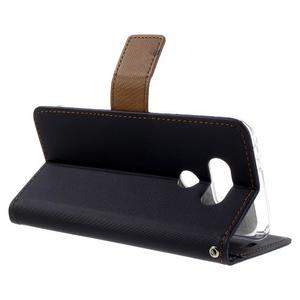 Diary PU kožené pouzdro na mobil LG G5 - černé - 5
