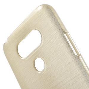 Hladký gelový obal s broušeným vzorem na LG G5 - champagne - 5