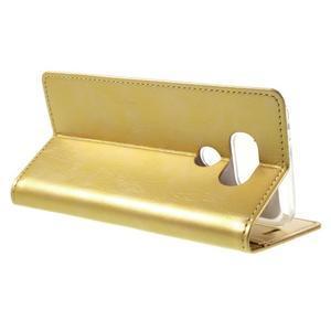 Luxury PU kožené pouzdro na mobil LG G5 - zlaté - 5