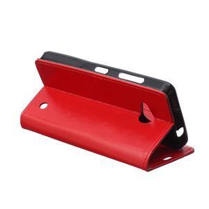 GX koženkové pouzdro na mobil Microsoft Lumia 550 - červené - 5