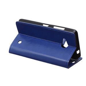 GX koženkové pouzdro na mobil Microsoft Lumia 550 - modré - 5