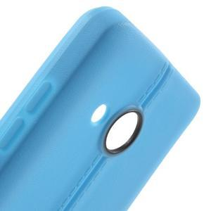 Lines gelový kryt se švy na Microsoft Lumia 550 - modrý - 5
