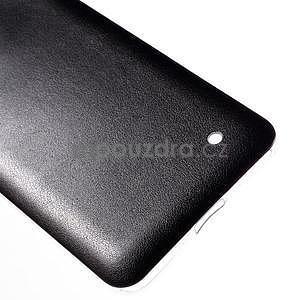 Gelový kryt s imitací kůže pro Microsoft Lumia 640 - černý - 5