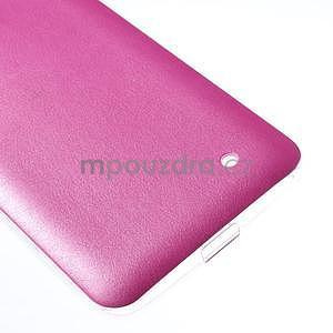 Gelový kryt s imitací kůže pro Microsoft Lumia 640 - rose - 5