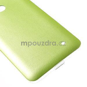 Gelový kryt s imitací kůže pro Microsoft Lumia 640 -  zelený - 5