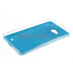 Gelový kryt s imitací kůže pro Microsoft Lumia 640 - modrý - 5