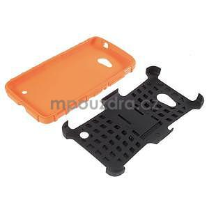 Vysoce odolný kryt se stojánkem na Microsoft Lumia 640 - oranžový - 5