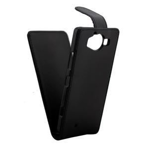Flipové pouzdro na mobil Microsoft Lumia 950 - černé - 5