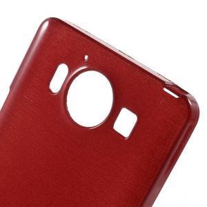 Brush hladký gelový obal na Microsoft Lumia 950 - červený - 5