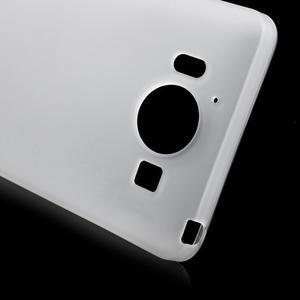 Matný gelový obal na Microsoft Lumia 950 - bílý - 5