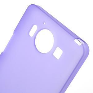 Matný gelový obal na Microsoft Lumia 950 - fialový - 5